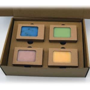 Geschenkbox Seifenstücken 4 Stück